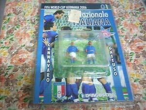 STATUINE FIFA World Cup Germany 2006 CANNAVARO & GATTUSO Altezza 7 CM Circa Materiale Piombo