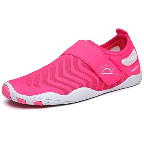 GDSSX Zapatos de Playa Ligeros Zapatos de balancín Zapatos de Agua de Secado rápido para Hombres y Mujeres Secado Rápido (Color : Pink, Size : 35/36EU)