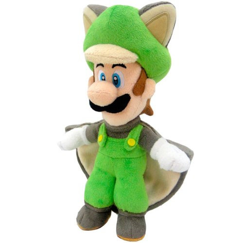 Super Mario Bros. Felpa Figura muñeca Pluch Ardilla voladora Luigi 38 cm Juntos Plus - Peluche Luigi Ardilla voladora (38cm)