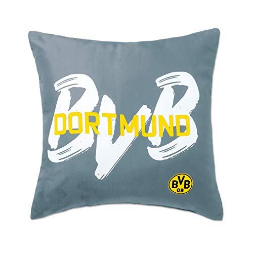 Borussia Dortmund Dekokissen BVB-Kollektion, grau, 40x40 cm