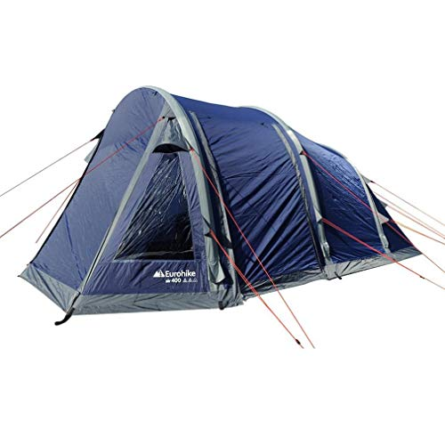 Eurohike Air 400 Quick Assembly Weatherproof 4-Person Tent, Navy, One Size