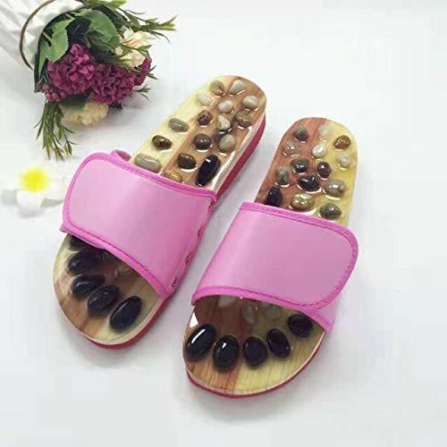 TONGTONG Chaussures de massage chinoises unisexes pour la santé et l'acupression - Pantoufles plates pour l'intérieur
