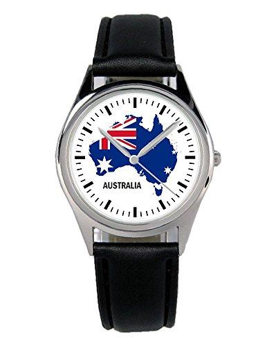 Australien Geschenk Artikel Idee Fan Uhr B-1265