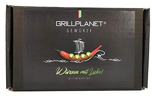 Grillplanet Fisch Gewürzsalz Gewürzmischung Geschenkset zum Braten und Grillen wie Lachssteak und Bratfisch in Geschenkverpackung