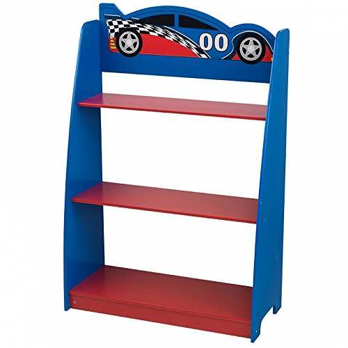 KidKraft- Voiture de Course Table de Chevet, 76041, Multicolore, 31,12 x 33,66 x 35,56 cm