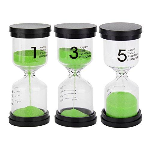 Hunpta 3/min Mini Hourglass pour douche Minuteur//minuteur brossage des dents avec ventouse