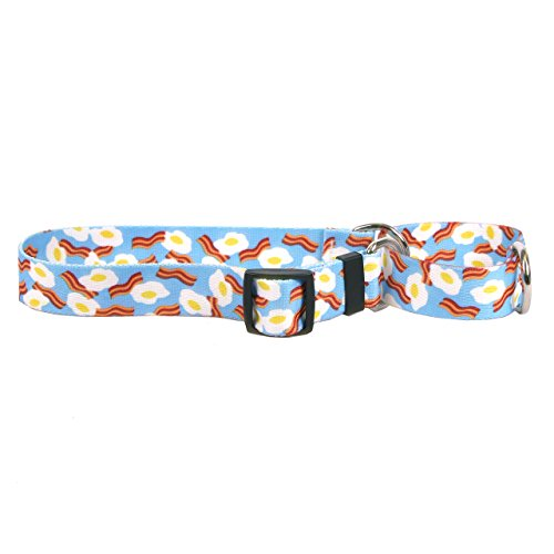 Yellow Dog Design Martingale Collar, Bacon & Eggs, Medium 20'