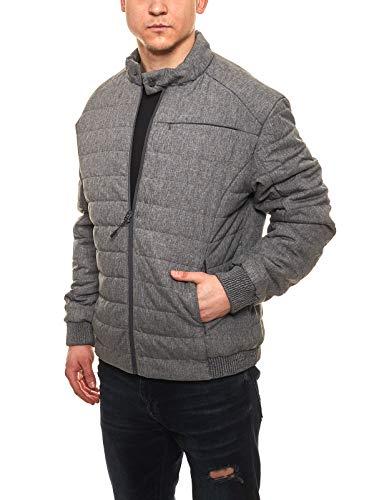 bruno banani Kurtka przejściowa watowana męska kurtka Blouson o melanżowym wyglądzie kurtka wiosenna kurtka outdoorowa szara, rozmiar: 3XL
