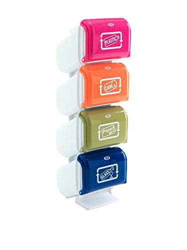 Wink design, Tolosa,Pattumiera Raccolta Differenziata, Plastica, Multicolore