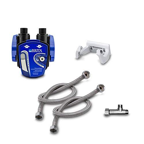 Neues Wasser Group BRITA under-sink water filter installation kit 1 2 inch: filter head, hoses, corner valve adapter, without filter cartridge BRITA P1000