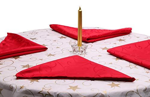 Christmas Concepts® 45cm x 45cm 4er Pack rote Damast Servietten