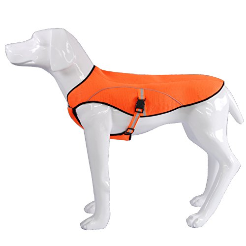 BLACKDOGGY Dog Swamp Cooler Evaporative Cooling Vest Reflective Jacket for Small, Medium and Large Dogs, Summer Outdoor Waling, Hunting, Camping