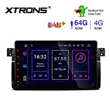 XTRONS 9' Android 9.0 4GB RAM 64GB ROM Autoradio mit Touch Screen Octa Core Multimedia Player unterstützt 4G WiFi Bluetooth DAB OBD2 TPMS Musik Streaming Plug und Play FÜR BMW/Rover/MG