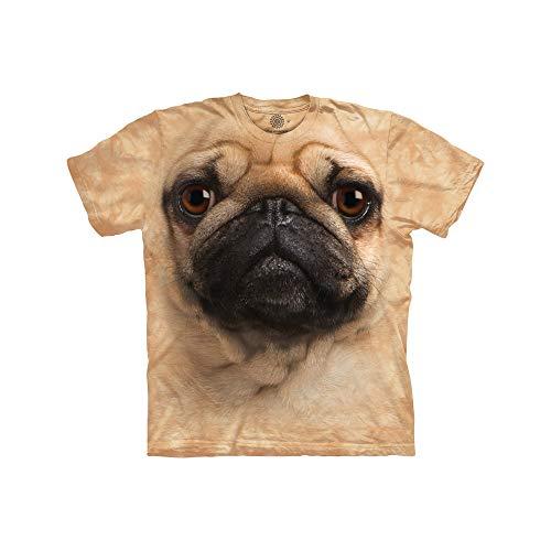 The Mountain Unisex Erwachsen Black Pug Face Hund T Shirt
