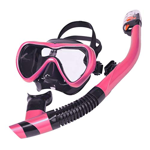 Schnorchelset Schnorchelausrüstung Silikon Taucherbrille Schnorcheln Gläser Set Unisex Tief Tauchermaske Zweiteiliges Schnorchelset Gr. Einheitsgröße, B