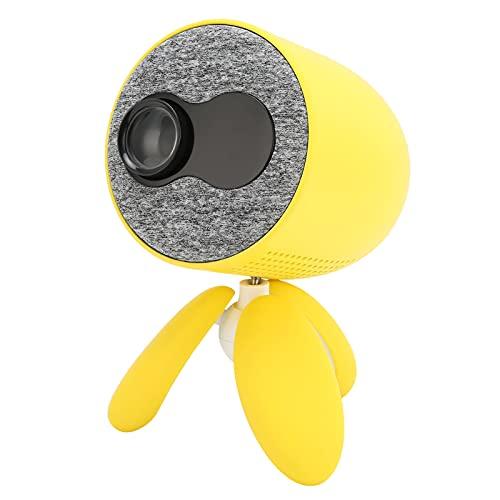 SONK Mini proyector, Proyector de Video LED portátil con interfaces HDMI USB TV AV y Control Remoto/trípode Giratorio de 360 Grados, Proyector de películas de Bolsillo para Cine en casa(EU)