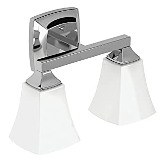 Moen YB5162CH Voss Collection 2 Dual-Mount Bath Bathroom Vanity Light Fixture with Frosted Glass, Chrome (B00VRN8DXU) | Amazon price tracker / tracking, Amazon price history charts, Amazon price watches, Amazon price drop alerts