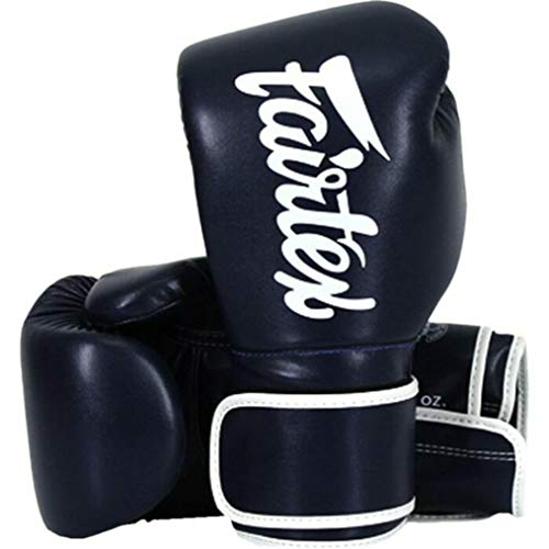 Fairtex Boxing Gloves BGV14 Blue - Muay Thai Kickboxing MMA Training Boxing Equipment Gear for Martial Art-16oz Guantone da Box Guantoni