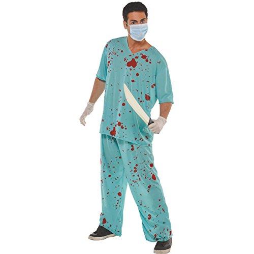Disfraz de enfermera Bloody unisex para fiesta de Halloween, espeluznante de Halloween, para hombres, espeluznantes, Halloween, zombie