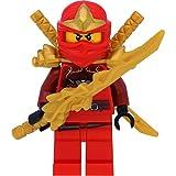 LEGO Ninjago Minifigur: Kai ZX (Ninja des Feuers) mit Schulterrüstung und Schwertern