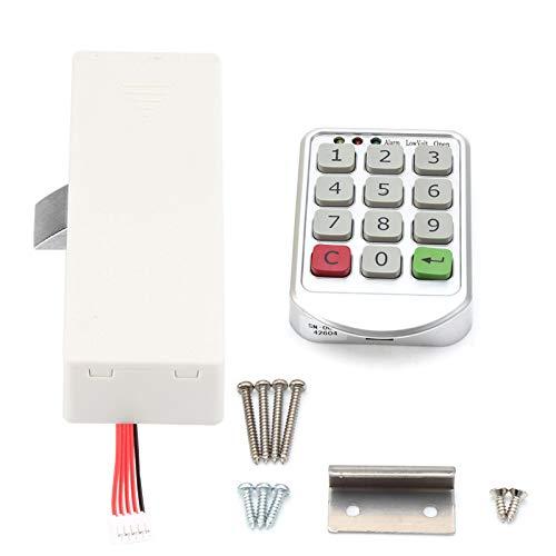Alvinlite Cerradura de código de Puerta, Cerradura de código Inteligente Digital electrónica, Número de Teclado de código electrónico Digital Inteligente Cerradura de código de Puerta de gabinete