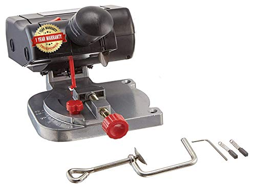 TruePower Mini Miter Cut-Off Chop Saw for Hobby Miniature Model Making, Arrow Shafts, Zinc Stained Glass Came, 223/5.56 Brass - Max. 1/2'Depth