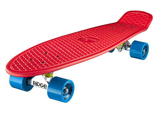 Ridge Skateboard Big Brother Nickel 69 cm Mini Cruiser, rot/blau