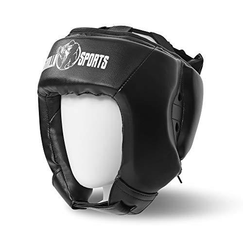 Gorilla Sports Kopfschutz Gesichtsschutz Headgear schwarz S L für Sparring Boxen Kickboxen Muay Thai MMA Abbildung 2
