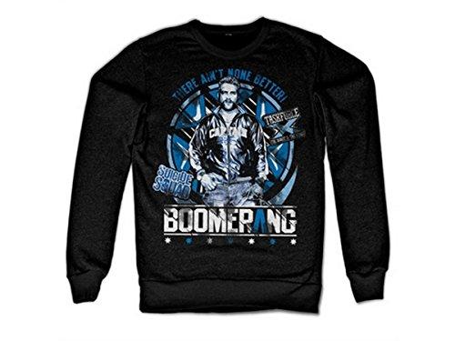 Preisvergleich Produktbild Suicide Squad Offizielles Lizenzprodukt Boomerang Sweatshirt (Schwarz)