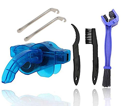 fuvooi Bike Chain Cleaner,Bike Cleaning Tools,Bicycle Chain Cleaner Scrubber Quick Clean Tool Brush Mountain Bike Accessory Maintenance Tool Cleaning Big Brush and Tire Lever (6)