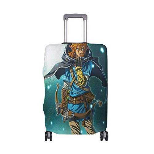 Travel Lage Cover The Legend of Zelda Breath Wild's Link Suitcase Protector Fits 26-28 Inch Washable Baggage Covers