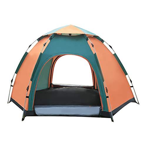 Javntouy 3-4 personas tienda de campaña impermeable y resistente al viento anti-UV para viajes, camping, montañismo, patio, deportes al aire libre, tienda duradera