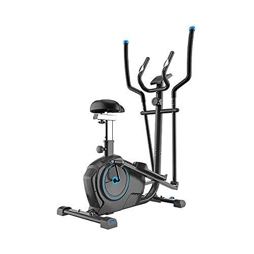 KPOON Máquina elíptica para el hogar 2-en-1 elíptica de la Bicicleta estática - Cardio Home Office Ejercicios de Fitness máquina con Asiento Negro Bicicleta de Ejercicios para máquina de entrenamie