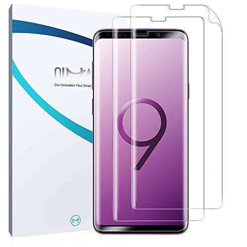 QiMai 3X Full Screen Cover Schutzfolie für Galaxy S9 Plus / S9+ Nano-TPU Displayschutzfolie Hülle Freundliche Abdeckung Panzerfolie, Guide Tool Kinderleicht anbringen