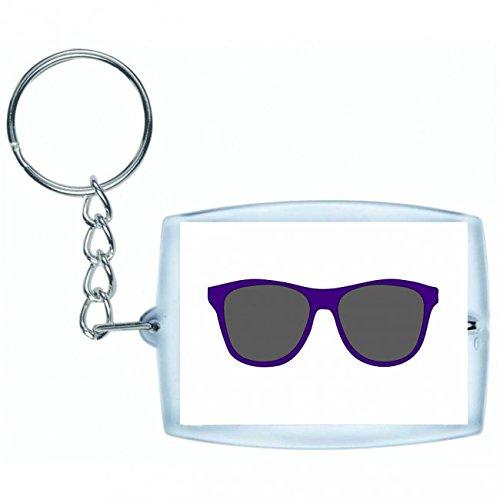 Druckerlebnis24 Schlüsselanhänger - Sonnenbrillen- Gläser- Farben- Dunkel- Mode- Sonne- Brillen- Stilvolle- Brille- Tragen- Sommer- Strand - Keyring - Taschenanhänger - Schlüsselring