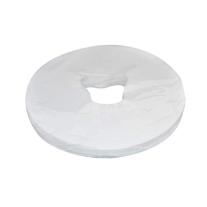 累計製造不平を言うHealifty 29x28cm使い捨てフェイスマッサージカバーフェイスホールピローパッド100枚(ホワイト)
