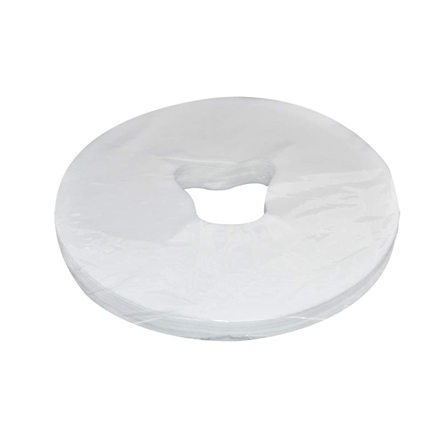 レキシコン幾何学ヒュームHealifty 100シート無織布巾 使い捨て マッサージフェイスピローカバー フェイスカバー ヘッドレストピローシート(ホワイト)