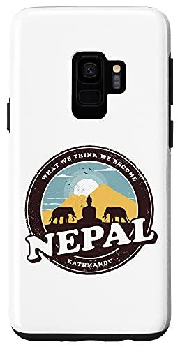 Galaxy S9 Nepal Kathmandu Buddha Statue Elephants Vintage Gift Case