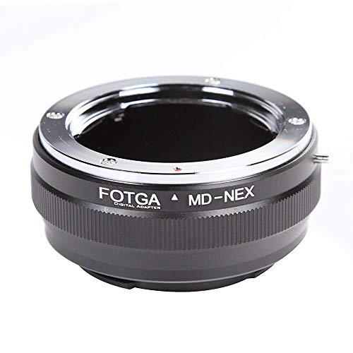Fotga E Mount Adapter Konverter Ring für Minolta MD MC Objektiv Lens zu Sony Mirrorless Kamera NEX Nex-3 NEX-5C NEX-6 A7 A7S A7RII III A9 A6000 A6300 A6500 NEX-VG10E VG900 MD-NEX