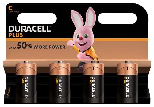 Duracell - Plus C, Pilas Alcalinas (paquete de 4)