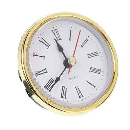 Bonlting Classic Clock Craft Quartz Movement 2-1/2 (65mm) Round Clocks Head Insert Roman Number
