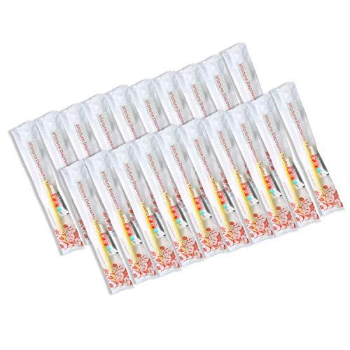 Einweg-Zahnbürsten mit Zahnpasta, 5 Farben, 20 Stück