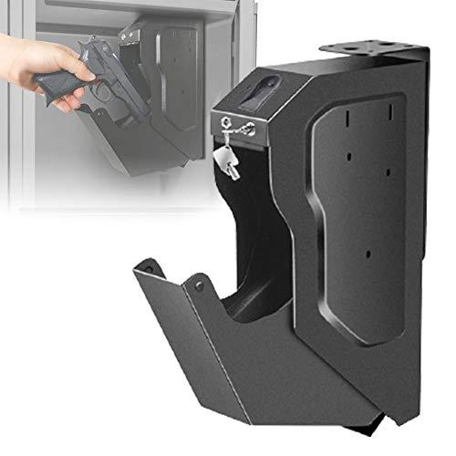 HNWTKJ Caja Fuerte para Armas, Gabinete para Armas, Huella Digital y Cerradura con Llave, Fácil de Usar, Proporciona Almacenamiento Seguro para Una Pistola Estándar