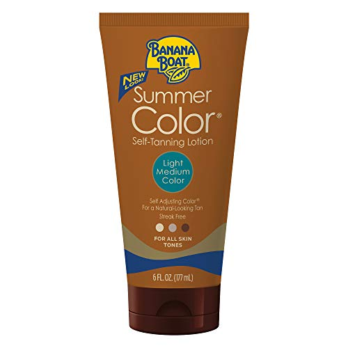 Banana Boat Self Tanning Lotion, Light/Medium Summer Color for All Skin Tones, Reef Friendly, 6...