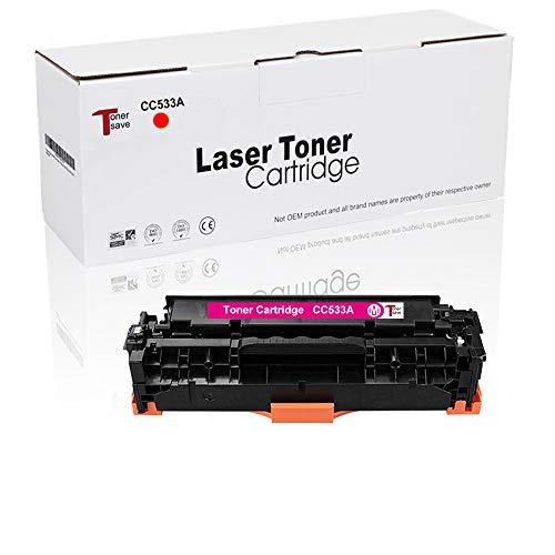 Tonersave kompatible zu HP 304A CC530A für HP Color Laserjet CP2025 CP2025N CP2025DN CM2320 CM2320N MFP CM2320NF MFP CM2320FXI MFP Drucker 1er-Pack Magenta