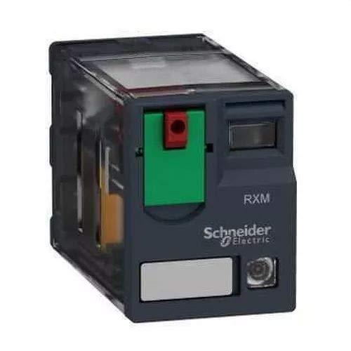Telemecanique Sensors RXM4GB2B7 Relé Enchufable Miniatura con LED, Nivel Bajo, Zelio RXM, 24 V CA, 4 CA