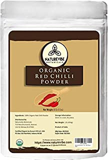 Sponsored Ad - Naturevibe Botanicals Organic Red Chilli Powder 1lbs, Capsicum annuum   Non GMO & Gluten Free   Adds Flavou...