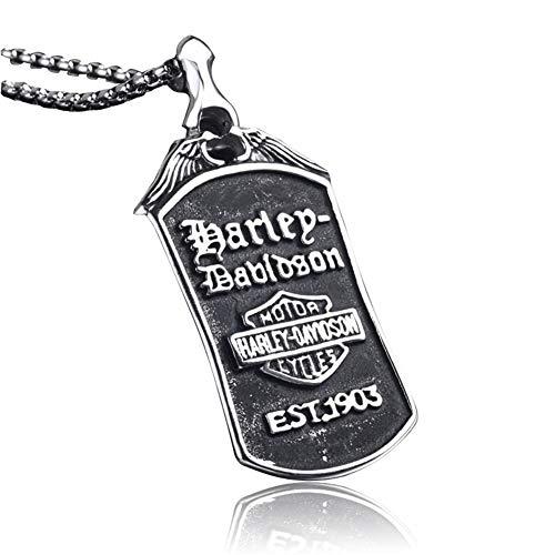US-Armee-Gör Military Dog Tag Anhänger Halskette für Männer und mit 65/70 / 80CM Silber-Edelstahl-Kette,80cm
