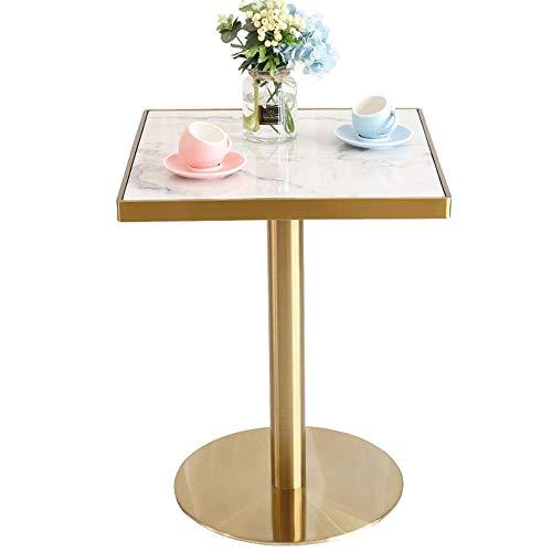 Home&Selected vierkante tafel marmer café dessert café vrije tijd eettafel woonkamer roestvrij staal hoekbank bijzettafel