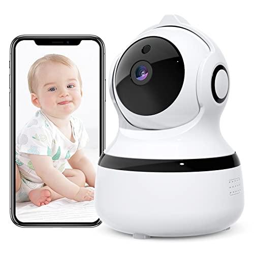 Cámara de Seguridad para Interiores, cámara IP WiFi 1080P con Audio bidireccional, visión Nocturna, detección de Movimiento, cámara para Mascotas para bebés, Perros, Ancianos